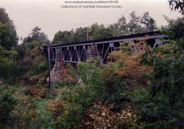 Bangor and Aroostook Railroad trestle bridge, Aroostook County, c. 1990