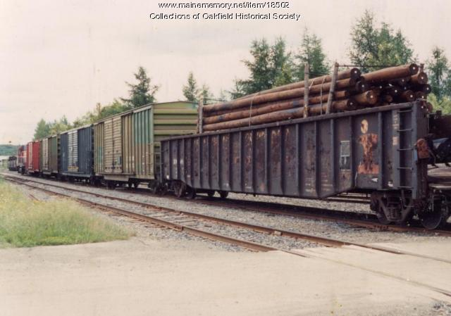 Bangor and Aroostook Railroad train, Aroostook County, c. 1990