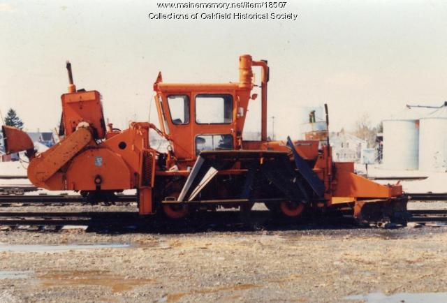 Bangor and Aroostook Railroad track maintenance equipment, c. 1990