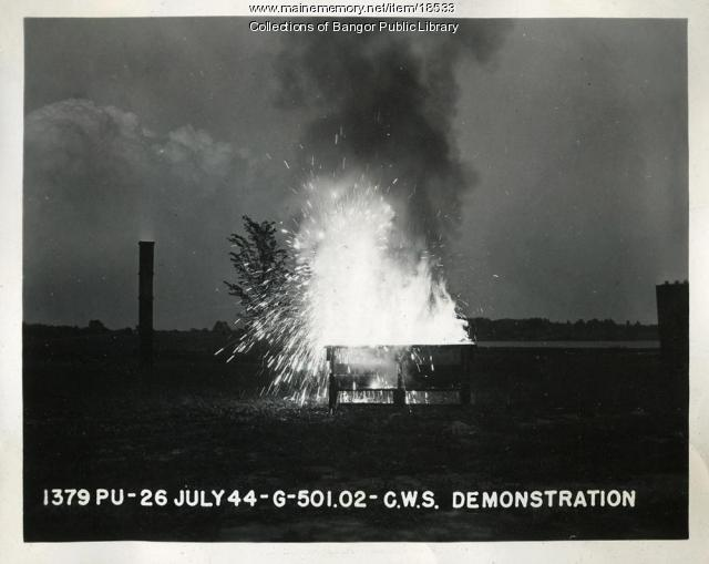 Thermate Demonstration, Bangor, 1944