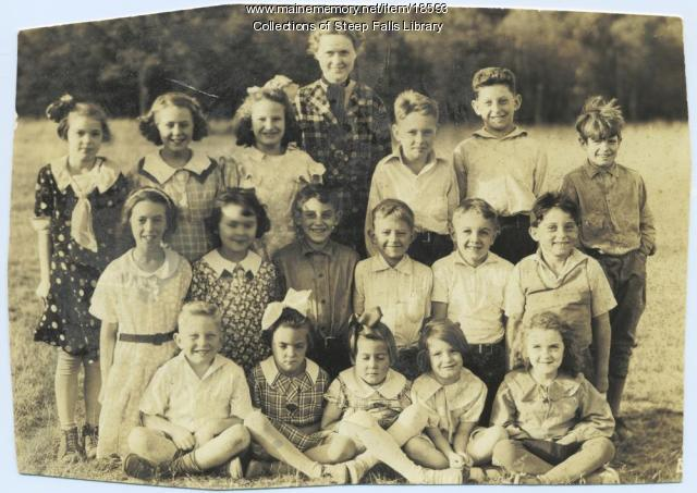 Steep Falls students, ca. 1935