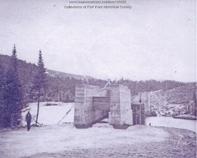 Bridge abutments for Fish River Rail Road, ca. 1902