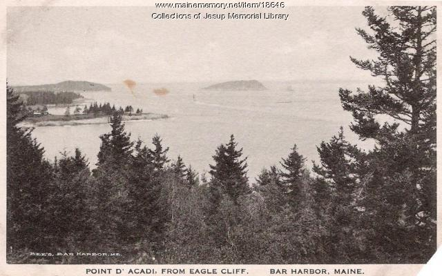 Pointe D'Acadie from Eagle Cliff, Bar Harbor