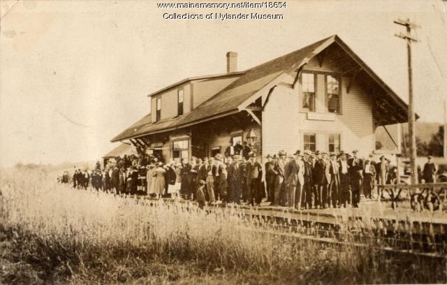 Bangor and Aroostook Railroad Station, New Sweden, 1918
