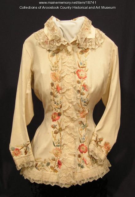 Handmade challis blouse, Houlton, c. 1885