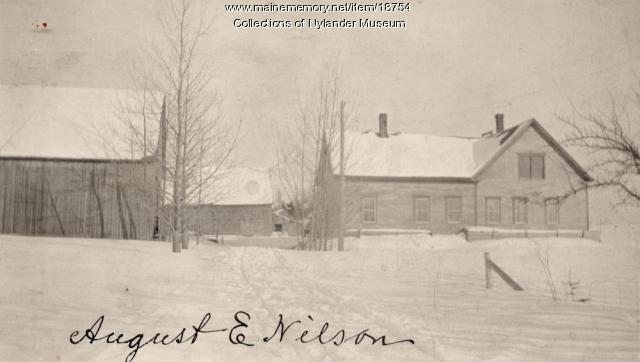August E. Nilson farm, New Sweden, ca. 1922