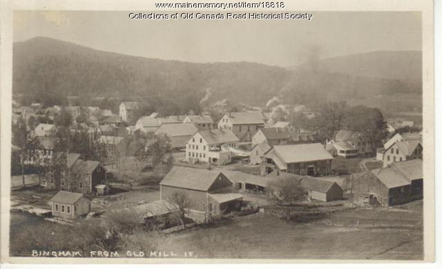 Bingham Village from Old Hill, circa 1920