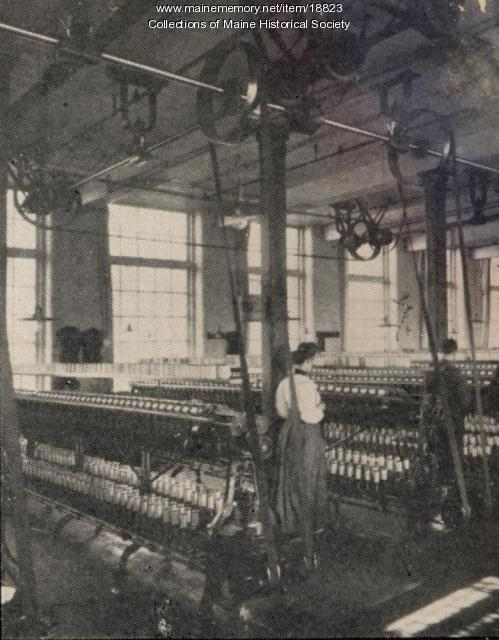 Spinning room, Haskell Silk Company, Westbrook, 1907