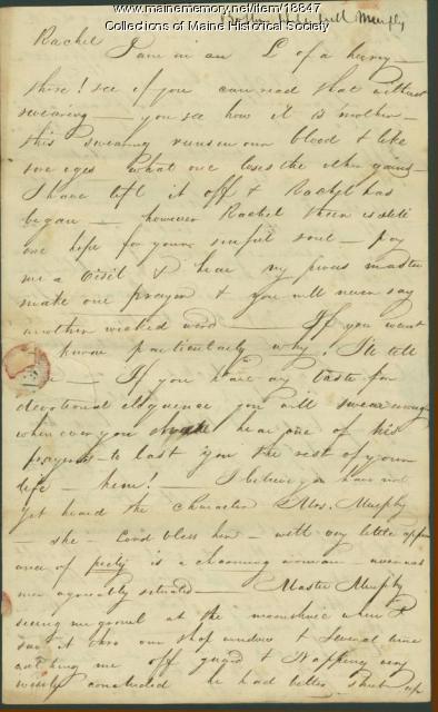 John Neal to sister, Rachel Neal, Portland, 1814
