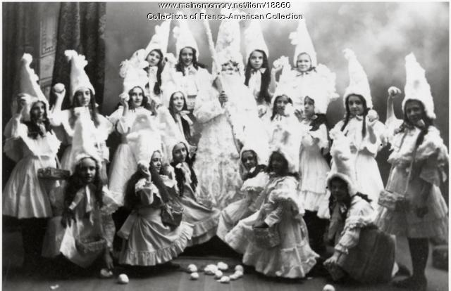 Christmas pageant, St. Peter's School, Lewiston, ca. 1900