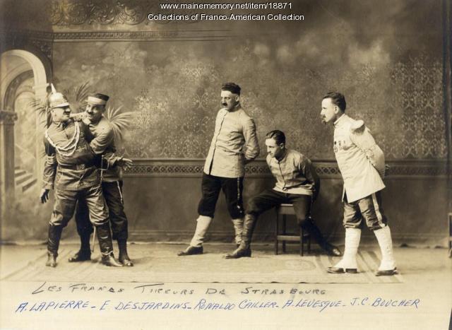 'Les Francs-Tireurs de Strasbourg,' Lewiston, 1920