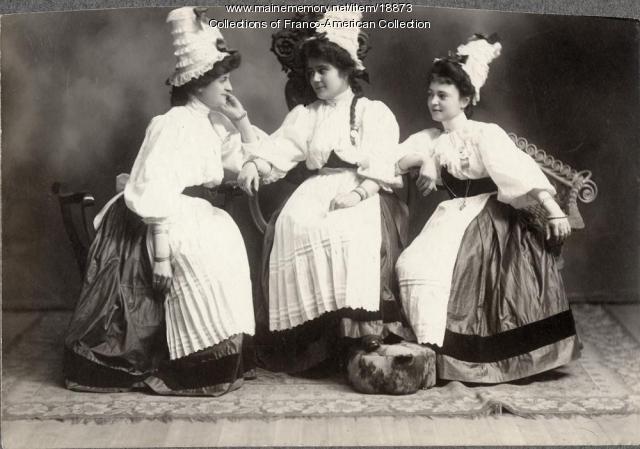 Actresses, Lewiston, 1896