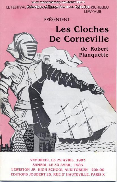 Program, 'Les Cloches de Corneville,' Lewiston, 1983