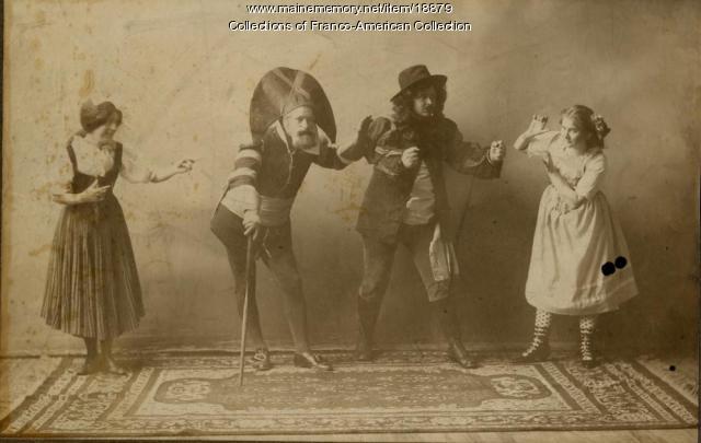 Cast, 'Les Cloches de Corneville,' Lewiston, 1896