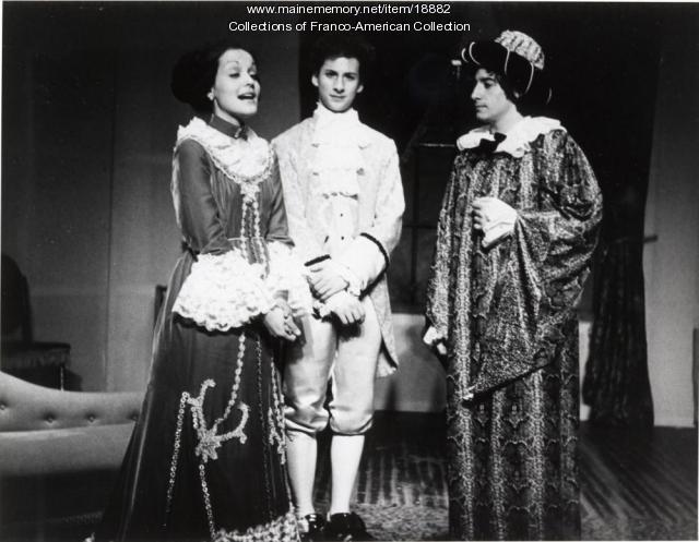 St. Dominic High School theater production, Lewiston, 1978