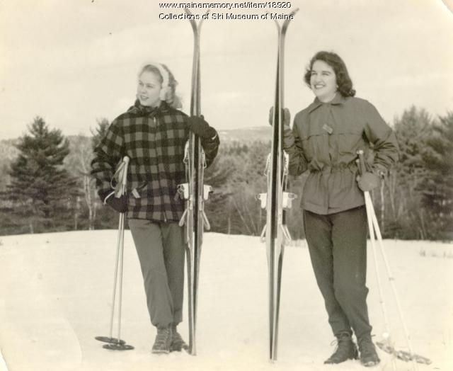 Skiers, Pleasant Mountain, ca. 1960