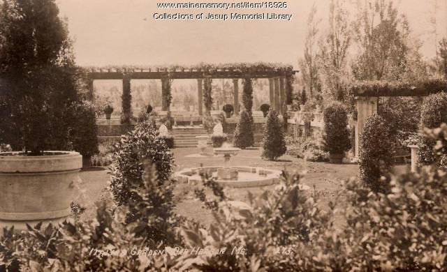 Italian Garden, Bar Harbor, ca. 1910