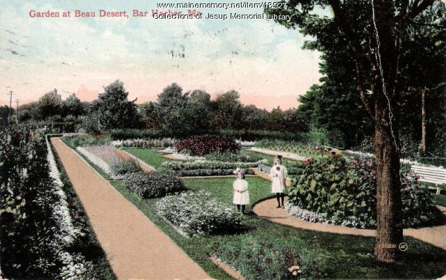 Garden at Beau Desert, Bar Harbor, ca. 1909