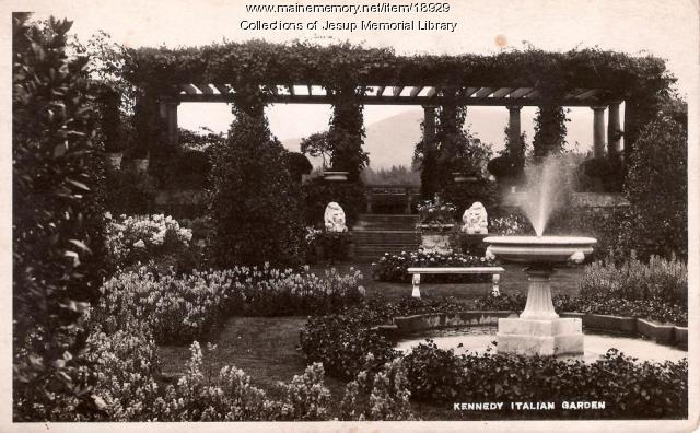Kennedy Italian Garden, Bar Harbor, ca. 1910