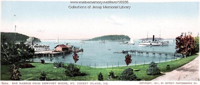 Bar Harbor from Newport House, Mount Desert Island, 1901