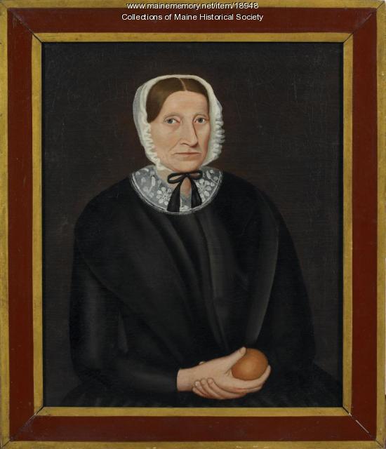 Woman with orange, ca. 1840