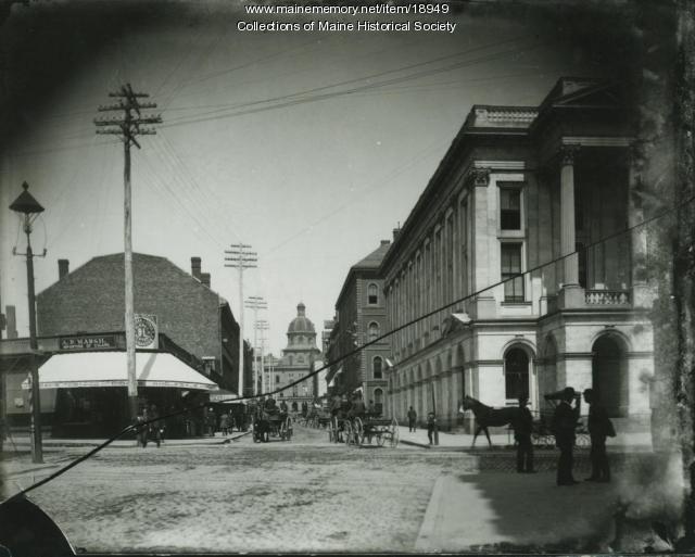 Exchange Street, Portland, ca. 1900