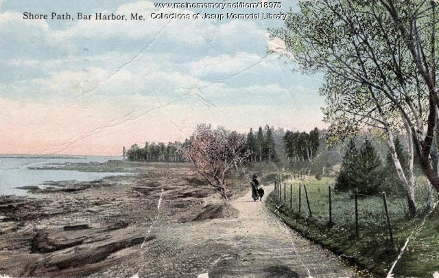 Shore Path, Bar Harbor, ca. 1921