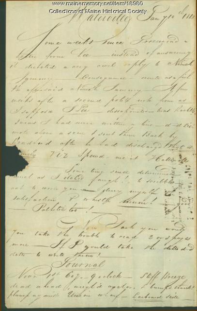 John Neal to sister, 1813