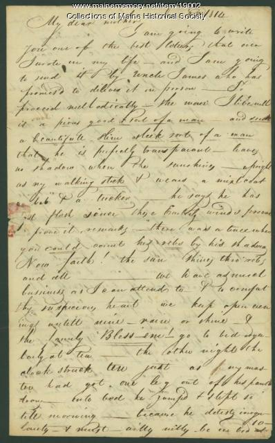 John Neal letter from Boston, 1814