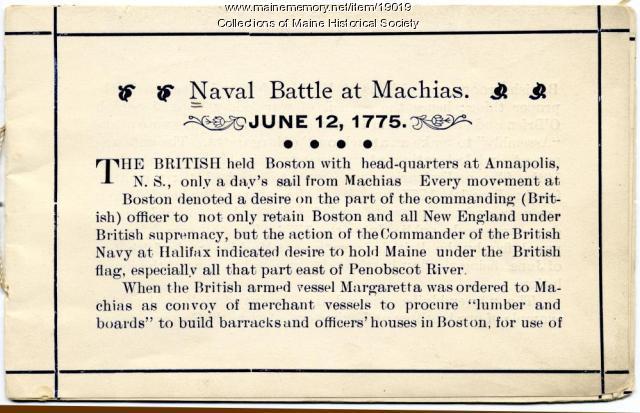 Naval Battle at Machias