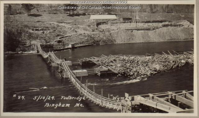 Wyman Dam Construction Footbridge