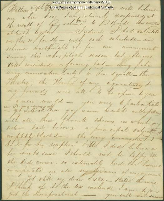 John Neal to Rachel Neal, 1815