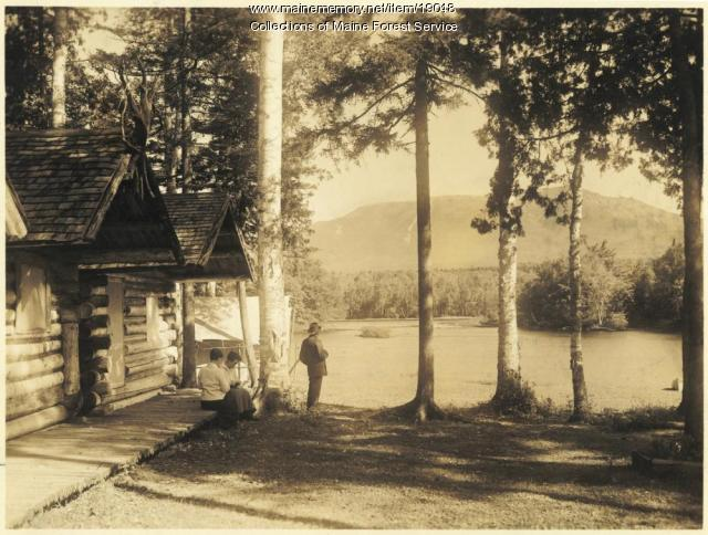 Katahdin from Ktaddn View Camps, ca. 1920