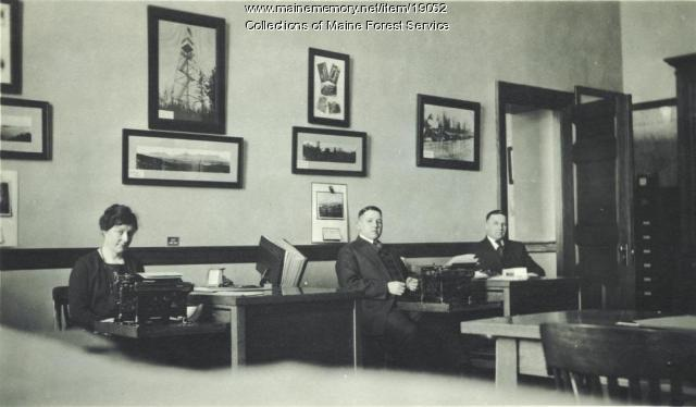 Maine Forest Service office, Augusta, ca. 1920