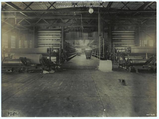 Paper machine room, Madison Mill, ca. 1920