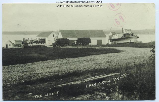 Wharf, Chesuncook, ca. 1920