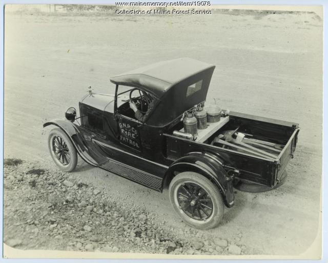 Fire patrol truck, ca. 1925
