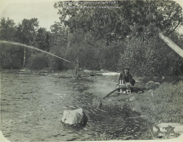 Forest Department fire hose, ca. 1930