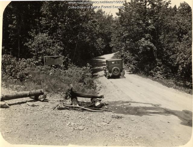 Safe camp fire demonstration, ca. 1930