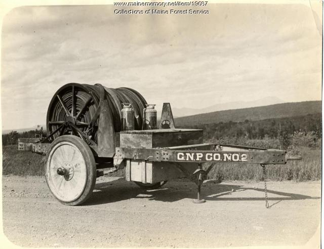 Woods hose trailer, ca. 1920