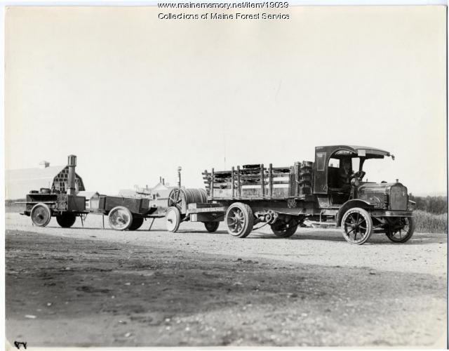 Great Northern Paper Co. truck, ca. 1920