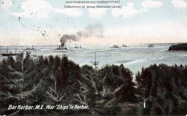 Bar Harbor with War Ships