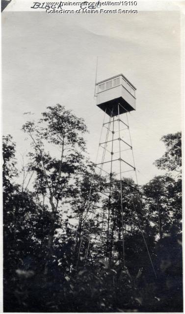 Fire watchtower, Black Cat Mountain, 1920