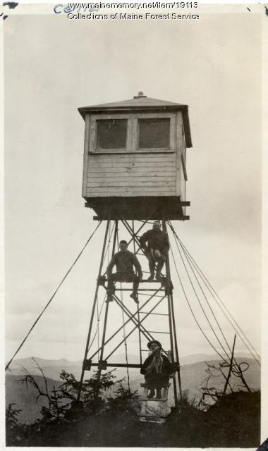 Center Mountain lookout tower, ca. 1920
