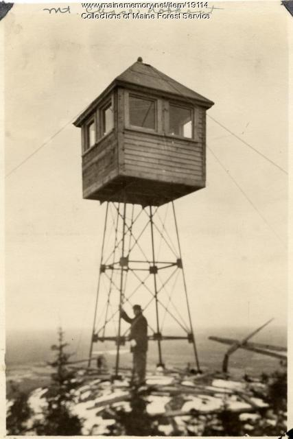 Mt. Chase fire lookout, ca. 1920