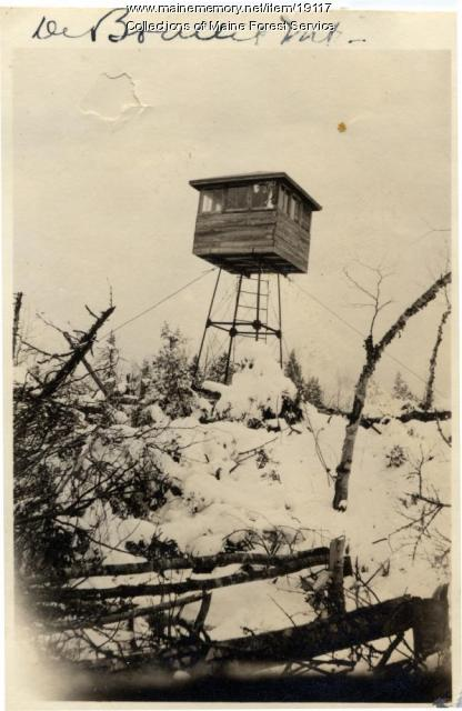 DeBoullie Mountain lookout, 1922
