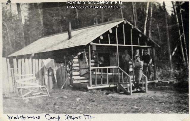 Watchman's camp, Depot Mountain, ca. 1920