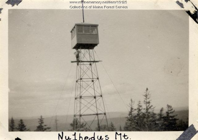 Fire tower, Nulhedus Mountain, ca. 1920