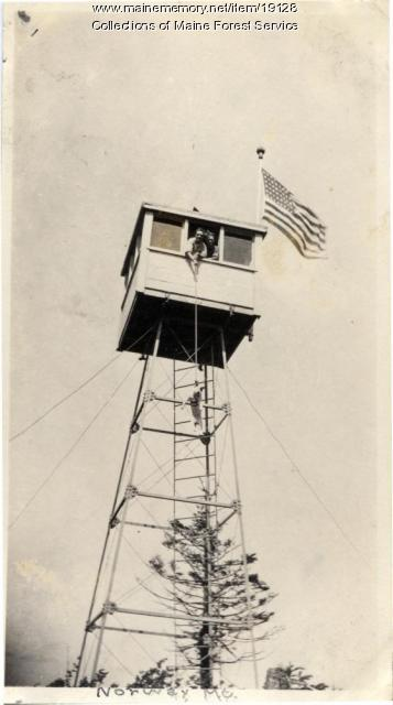 Norway Mountain lookout tower, ca. 1920