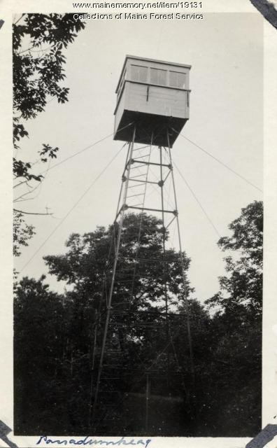 Passadumkeag fire lookout tower, ca. 1920